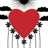 Coração na natureza Imagens de Stock