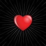Coração na obscuridade ilustração do vetor