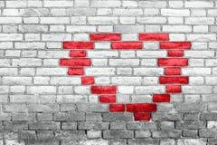 Coração na parede Fotografia de Stock