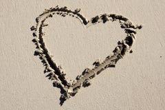 Coração na praia Foto de Stock Royalty Free