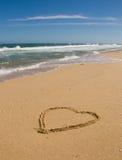 Coração na praia Imagem de Stock