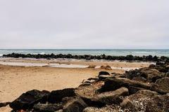 Coração na praia imagens de stock royalty free