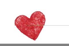 Coração na rede Fotos de Stock
