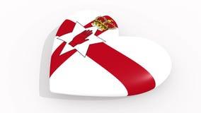 Coração nas cores e nos símbolos Irlanda do Norte, laço