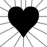 Coração nas correntes Fotografia de Stock