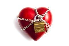 Coração nas correntes Foto de Stock Royalty Free