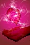 Coração nas mãos Foto de Stock Royalty Free
