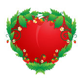 coração nas morangos Foto de Stock