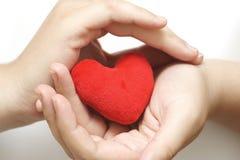 Coração nas palmas Fotos de Stock