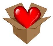 Coração no ícone da caixa Foto de Stock