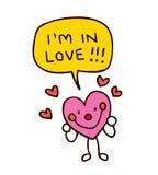 Coração no amor Foto de Stock