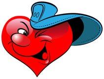 Coração no boné de beisebol Imagens de Stock Royalty Free