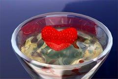 Coração no cálice Fotografia de Stock