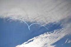 Coração no céu Imagens de Stock Royalty Free