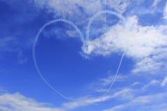 Coração no céu Foto de Stock Royalty Free