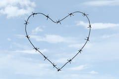 Coração no céu Imagem de Stock