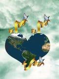 Coração no céu Fotografia de Stock