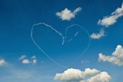 Coração no céu azul Imagens de Stock
