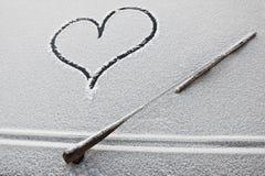 Coração no carro foto de stock