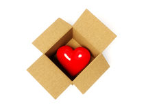Coração no cartão Foto de Stock