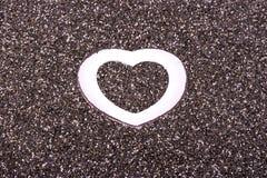 Coração no chia Fotografia de Stock Royalty Free