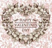Coração no dia de Valentim. Cartão. Fotos de Stock