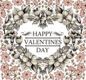 Coração no dia de Valentim. Cartão. Imagens de Stock Royalty Free