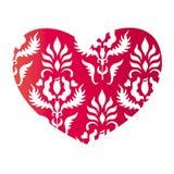 Coração no estilo do vintage ilustração stock