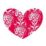 Coração no estilo retro Fotografia de Stock Royalty Free