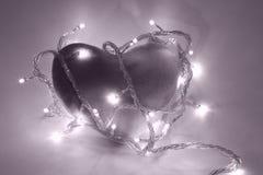 Coração no filtro magenta Imagem de Stock