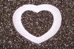 Coração no fim do chia acima Fotografia de Stock