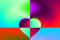 Coração no fundo Imagens de Stock Royalty Free