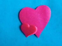 Coração, no fundo azul Foto de Stock