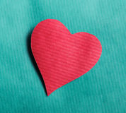 Coração, no fundo azul Fotografia de Stock Royalty Free
