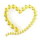 Coração no fundo branco Imagens de Stock Royalty Free