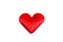 Coração no fundo branco Fotos de Stock Royalty Free