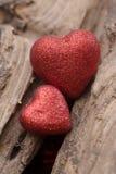 Coração no fundo de madeira Foto de Stock
