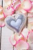 Coração no fundo de madeira Foto de Stock Royalty Free