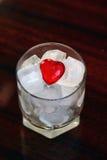 Coração no gelo Fotografia de Stock Royalty Free
