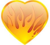 Coração no incêndio Foto de Stock