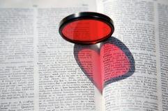 Coração no livro foto de stock royalty free