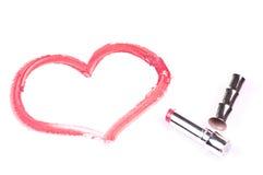 Coração no Livro Branco Fotografia de Stock Royalty Free