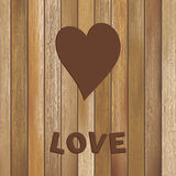 Coração no molde de madeira do fundo. + EPS8 Imagem de Stock Royalty Free