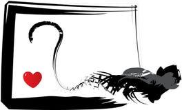 Coração no perigo Imagens de Stock