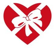 Coração no presente Imagem de Stock