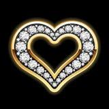 Coração nos diamantes Fotos de Stock Royalty Free