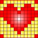Coração nos quadrados Fotografia de Stock