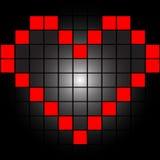 Coração nos quadrados Fotografia de Stock Royalty Free