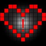 Coração nos quadrados Fotos de Stock Royalty Free