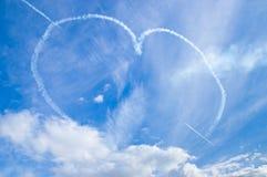 Coração nos skys Fotos de Stock Royalty Free